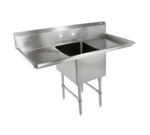 """John Boos 1B18244-2D18-X Commercial Sink, (1) One Compartment, 16 Gauge Stainless Steel Construction with Stainless Steel Legs and with 2 Drainboards - 59.00"""" W"""