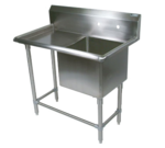 """John Boos 1PB24-1D30L Commercial Sink, (1) One Compartment, 16 Gauge Stainless Steel Construction with Stainless Steel Legs and With Left-hand Drainboard - 58.19"""" W"""