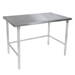 """John Boos ST4-4848SBK Work Table, 14 Gauge Stainless Steel Top with Open Base and without Backsplash - 48""""W x 48""""D"""