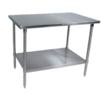 """John Boos ST6-2460SSK-X Work Table, 16 Gauge Stainless Steel Top with Stainless Steel Undershelf and without Backsplash - 60""""W x 24""""D"""