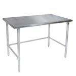 """John Boos ST6-3648GBK Work Table, 16 Gauge Stainless Steel Top with Open Base and without Backsplash - 48""""W x 36""""D"""