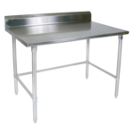"""John Boos ST6R5-3060GBK-X Work Table, 16 Gauge Stainless Steel Top with Open Base and 5"""" Backsplash - 60""""W x 30""""D"""
