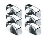 Krowne Metal 25-200 Krowne Oven Knob- Chrome 6 Pc