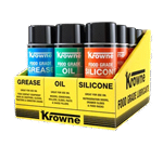 Krowne Metal Krowne Metal 30-210 Krowne Food Grade Lubricants 12 Can Display Case. Display includes yellow display case tray and four (4) each of Food Grade Grease