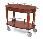 Lakeside Manufacturing 70011 Serving Cart-Bordeaux