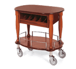 Lakeside Manufacturing 70036 Gueridon Cart-Bordeaux