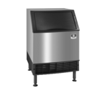 """Manitowoc UYF0240W 26"""" Half-Dice Ice Maker With Bin, Cube-Style - 200-300 lbs/24 Hr Ice Production, Water-Cooled, 115 Volts"""