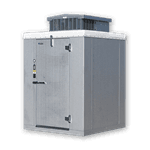 "Master-Bilt Products MB5760406FOHDX (QUICK SHIP) OUTDOOR Walk-In Freezer 3'-11"" x 5'-10"" x 7'-6"""