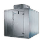 "Master-Bilt Products MB5760606FIHDX (QUICK SHIP) INDOOR Walk-In Freezer 5'-10"" x 5'-10"" x 7'-6"""