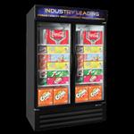 "Master-Bilt MBGRP48-HG Fusion Plus"" Glass Door Refrigerator Merchandiser"