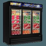 "Master-Bilt MBGRP74-SL Fusion Plus"" Glass Door Refrigerator Merchandiser"