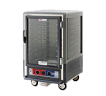 Metro C535-HLFC-L-GY C5™ 3 Series with Grey Insulation Armour™ Half Height Clear Door Mobile Heated Holding Cabinet, 120 Volts