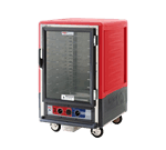 Metro C535-HLFC-LA C5™ 3 Series with Red Insulation Armour™ Half Height Clear Door Mobile Heated Holding Cabinet, 120 Volts