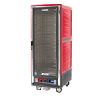 Metro C539-CLFC-4 C5™ 3 Series with Red Insulation Armour™ Full Height Clear Door Insulated Mobile Proofing and Holding Cabinet, 120 Volts