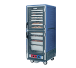 Metro C539-HLDC-L-BU C5™ 3 Series with Blue Insulation Armour™ Full Height Clear Door Mobile Heated Holding Cabinet, 120 Volts