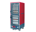 Metro C539-HLDC-L C5™ 3 Series with Red Insulation Armour™ Full Height Clear Door Mobile Heated Holding Cabinet, 120 Volts