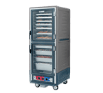 Metro C539-HLDC-L-GYA C5™ 3 Series with Grey Insulation Armour™ Full Height Clear Door Mobile Heated Holding Cabinet, 120 Volts