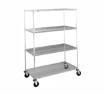 Metro N356EBR Super Erecta® Stem Caster Cart