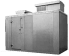 "Nor-Lake KODF7746-C 4' x 6' x 7'-7"" H Kold Locker Outdoor Freezer with floor"