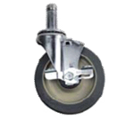 Olympic J5FBA-4 Stem/Swivel-Brake Caster Set