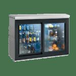 Perlick Corporation SDBR48 Silver 2 Glass Door Refrigerated Back Bar Storage Cabinet, 120 Volts