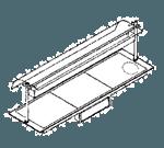 """Piper Products ND26050-OHD4-HS Berkeley 57""""W x 22""""D Heated Shelf Food Warmer - 208 Volts / 3875 Watts"""