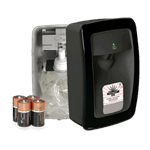 RJ Schinner PP8910F-EA Performance Plus No Touch M-Fit Soap Dispenser Black with Black Trim, Automatic