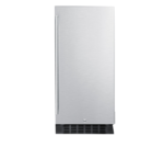 Summit Commercial FF1532BCSS 14.75'' 1 Section Undercounter Refrigerator with 1 Right Hinged Solid Door and Front Breathing Compressor