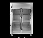 Traulsen AHT232WPUT-HHG 58'' 54.2 cu. ft. 2 Section Glass Half Door Pass-Thru Refrigerator