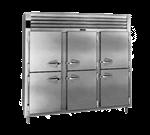 Traulsen AHT332N-HHS 76.31'' 69.5 cu. ft. Top Mounted 3 Section Solid Half Door Reach-In Refrigerator