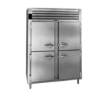 Traulsen RHT232NP-HHS 52.13'' 48.3 cu. ft. 2 Section Solid Half Door Pass-Thru Refrigerator