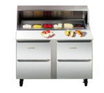 Traulsen UPD7212DD-0300 72'' 4 Drawer Counter Height Refrigerated Sandwich / Salad Prep Table with Standard Top