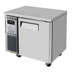 Turbo Air JUF-36-N 35.38'' 1 Section Undercounter Freezer with 1 Right Hinged Solid Door and Front Breathing Compressor