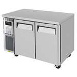 Turbo Air JUF-48-N 47.25'' 2 Section Undercounter Freezer with 2 Left/Right Hinged Solid Doors and Front Breathing Compressor