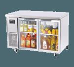 Turbo Air JUR-48-G J Series Glass Door Undercounter Side Mount Refrigerator