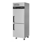Turbo Air M3F24-2-N 28.75'' 21.7 cu. ft. Top Mounted 1 Section Solid Half Door Stainless Steel Reach-In Freezer