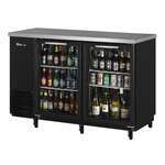 Turbo Air TBB-24-48SG-N Black 2 Glass Door Refrigerated Back Bar Storage Cabinet, 115 Volts