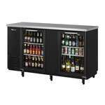 Turbo Air TBB-24-60SG-N Black 2 Glass Door Refrigerated Back Bar Storage Cabinet, 115 Volts