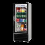 Turbo Air TGM-11RV-N6 23.63'' Black 1 Section Swing Refrigerated Glass Door Merchandiser