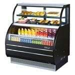 Turbo Air TOM-W-40SB-N 6.4 Cu. Ft. Open Display Merchandiser Combination Case with 4.2 Cu. Ft. Top Shelf