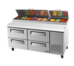 Turbo Air TPR-67SD-D4-N Super Deluxe Pizza Prep Table