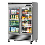 Turbo Air TSR-49GSD-N Super Deluxe Glass Door Refrigerator