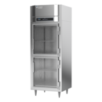 Victory Refrigeration FSA-1N-S1-HG-HC 31.25'' 16.7 cu. ft. Top Mounted 1 Section Glass Half Door Reach-In Freezer