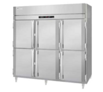 Victory Refrigeration RS-3D-S1-HD-HC 77.75'' 70.1 cu. ft. Top Mounted 3 Section Solid Half Door Reach-In Refrigerator