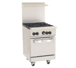 "Wolf C24S-4B Restaurant Gas Range, 24"" W with 4 Burners and Standard Oven - 143,000 BTU"